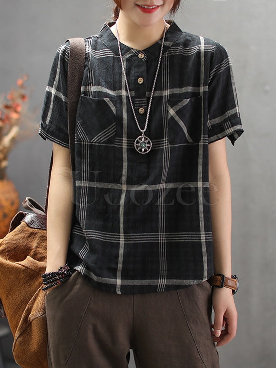 National Style Plaid Shirt