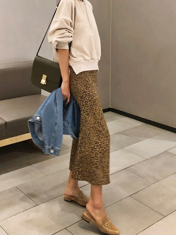 Sexy Leopard High Waist Skirt