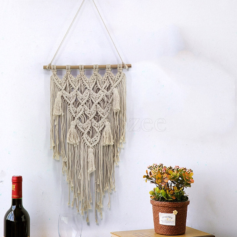Tasseled Crossing Crochet Decoration
