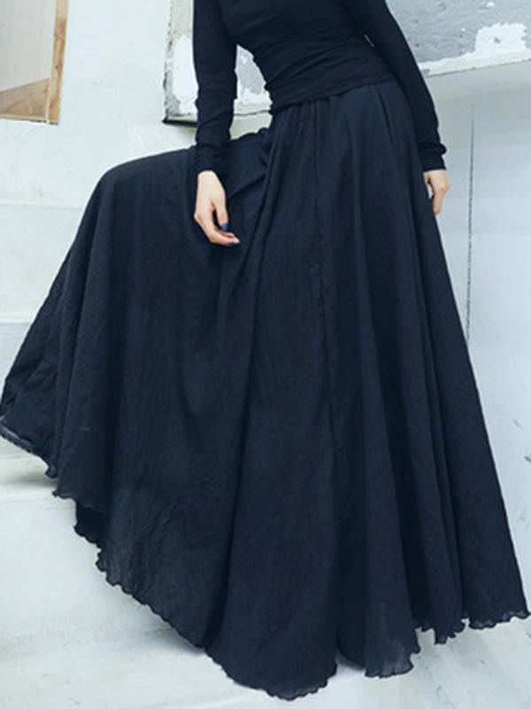 Noble Loose Big Hem Long Skirt