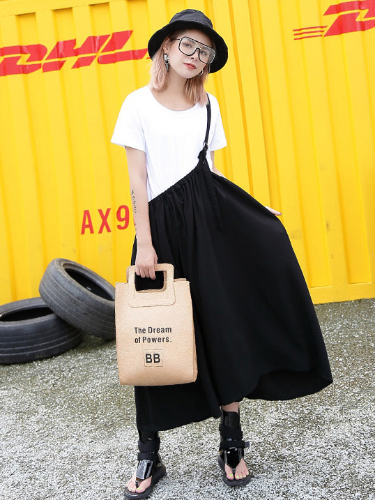 Loose Fashion Designed T-shirt and Skirt Suits