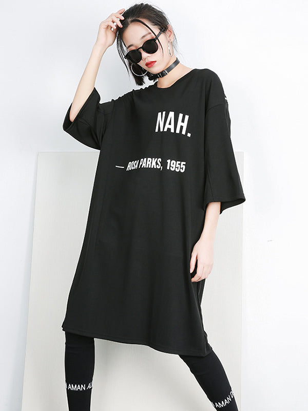Printed Loose Plus Size Fashion T-shirt Top