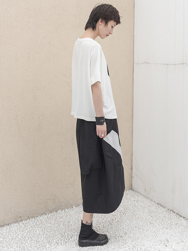 Simple Asymmetric High-low Oversize T-Shirt