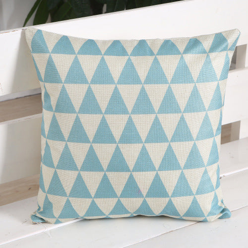 Triangle Plaid Pillow Case