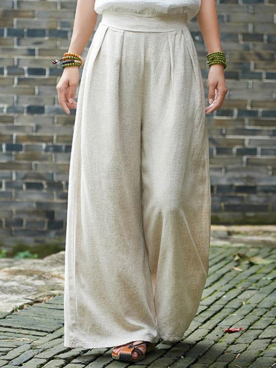 Vintage Casual Yoga Loose Wide Leg Pants