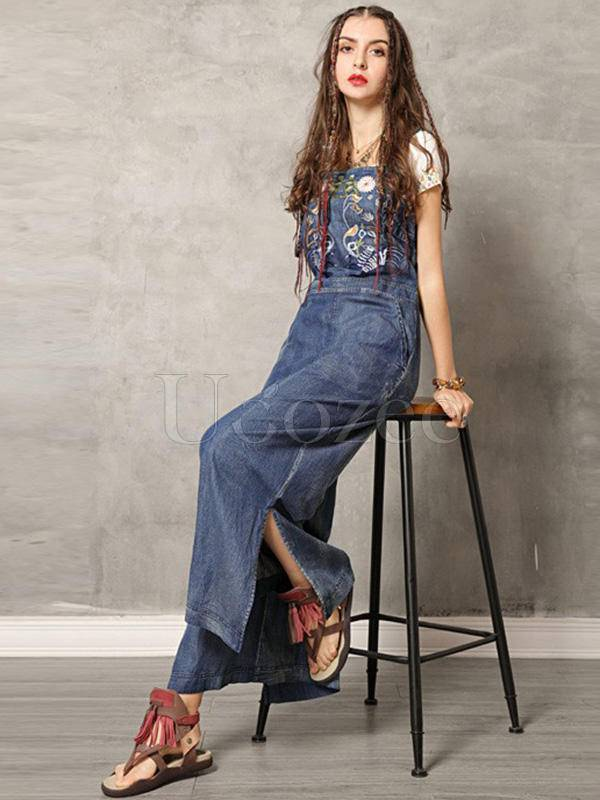 2019 Summer New Original Fashion Vintage Embroidery Rompers