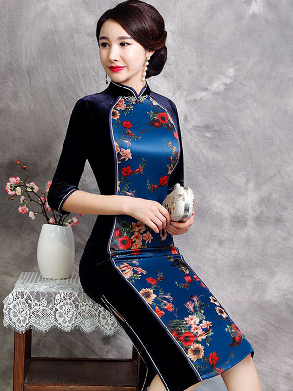 National Split-joint Long Cheongsam