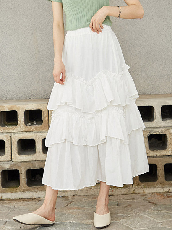 Vintage Summer Tiered Skirt
