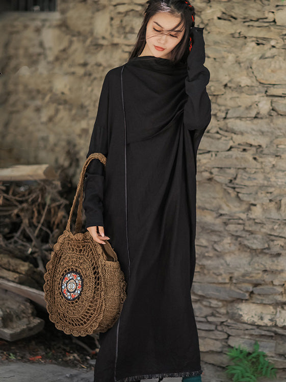 Simple Back-Strap Solid Loose Maxi Dresses