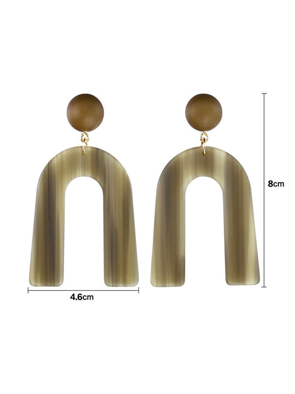 U pattern Earrings