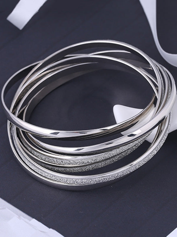 Multi-layer Rings Split-joint Bracelet