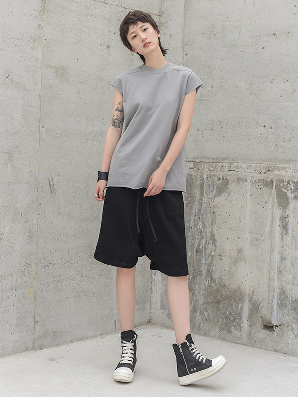 Loose Solid Harem Pants Shorts