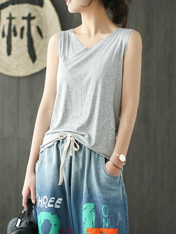 Comfortable Pure Color Elastic Force T-shirt