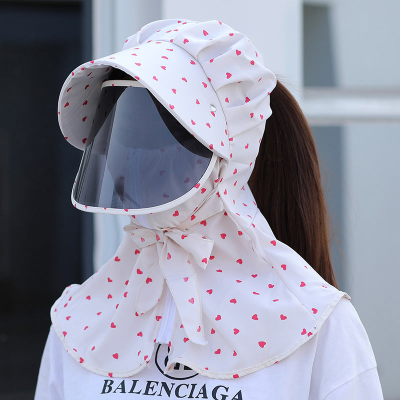 New Polka-Dot Windtight Sunshade Hat