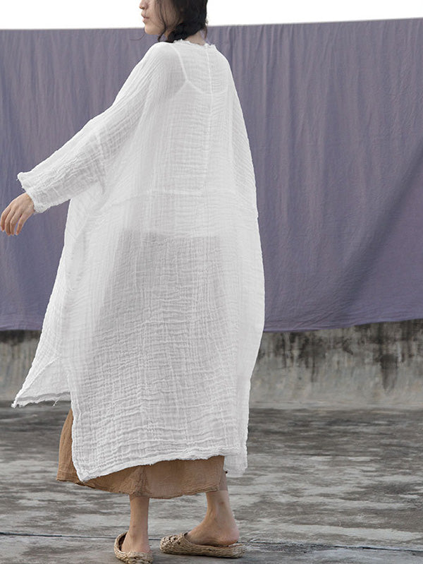 Soft Ruffled Simple Solid Midi Dresses