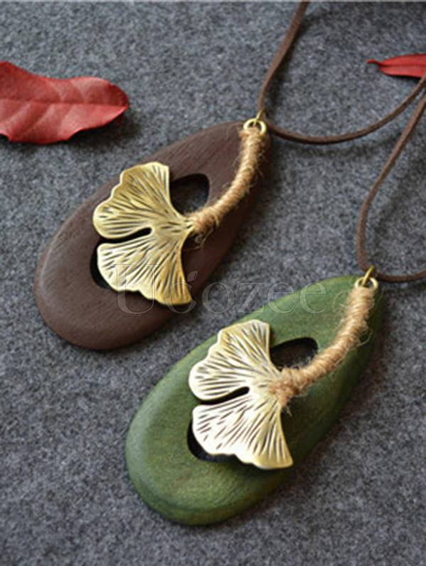 Delicate Leaves Handmade Necklace