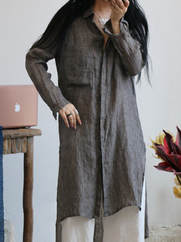 Pure Linen Comfortable Long Shirt