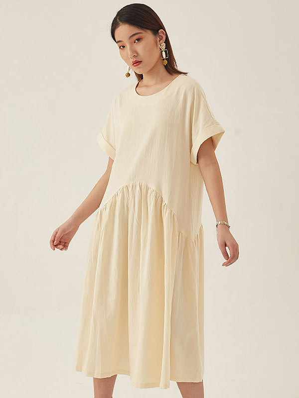 Original Retro Cropped Hemline Long Dress