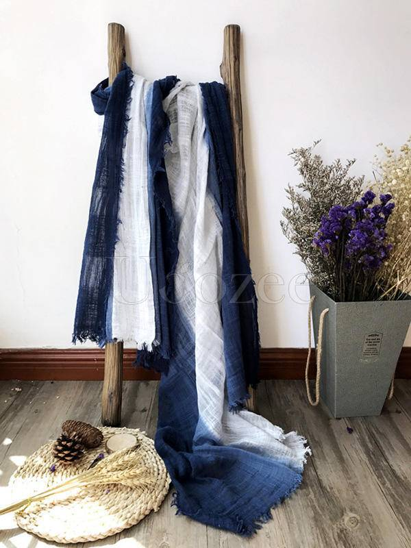 8 Colors Tassels Stripe Cape Scarf