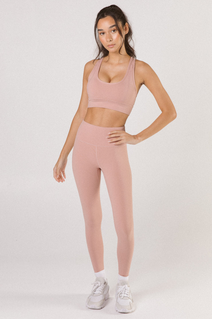 Dusty Pink High Waist Leggings