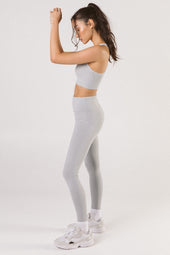 Marble Grey High Waist Leggings