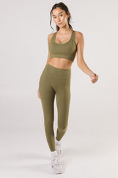 Khaki High Waist Leggings