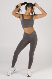Gunmetal V-Waist Leggings