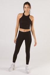 Black Mid Waist Leggings