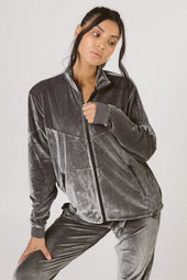 Gunmetal Velour Jacket