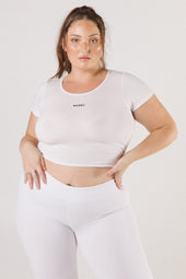 White Saski Crop Tee