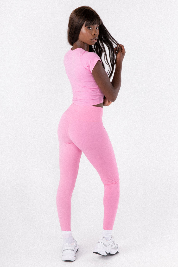 Mid Pink High Waist Leggings