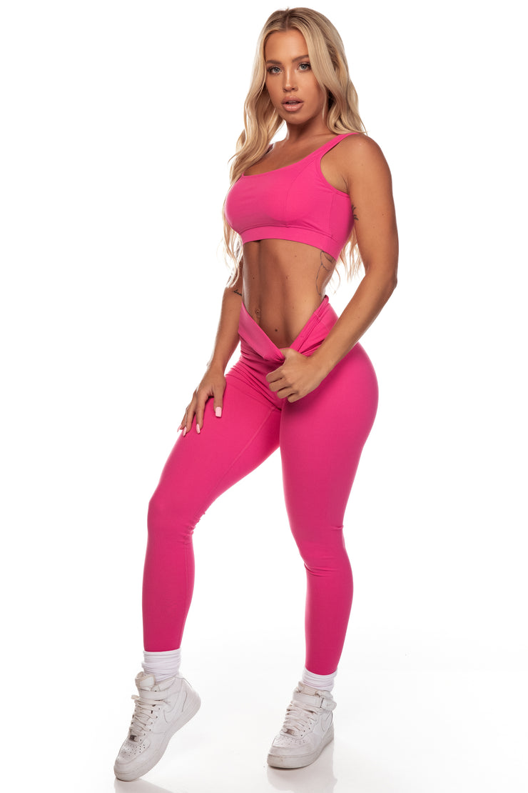 Fuchsia High Waist Leggings