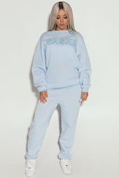 Sample - Light Blue Sweats