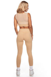 Beige High Waist Leggings