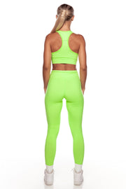 Neon Green High Waist Leggings