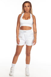 White Hooded Sports Bra