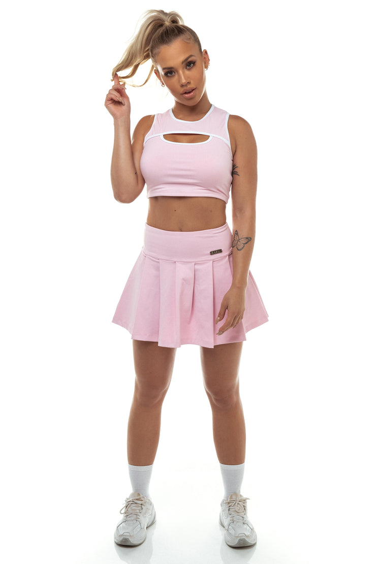 Baby Pink Keyhole Crop