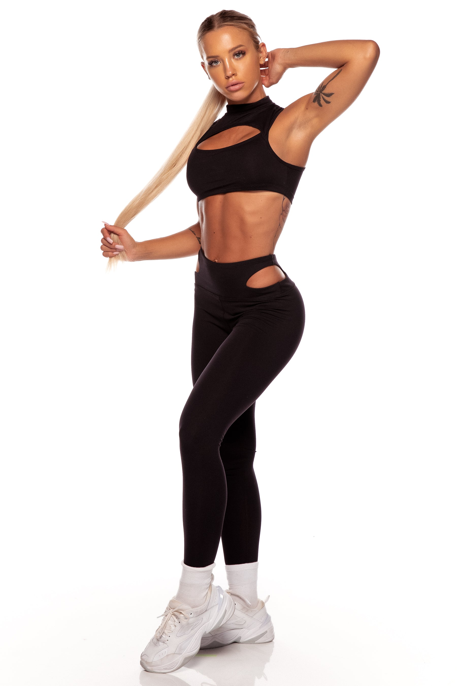 Black Cut Out Leggings
