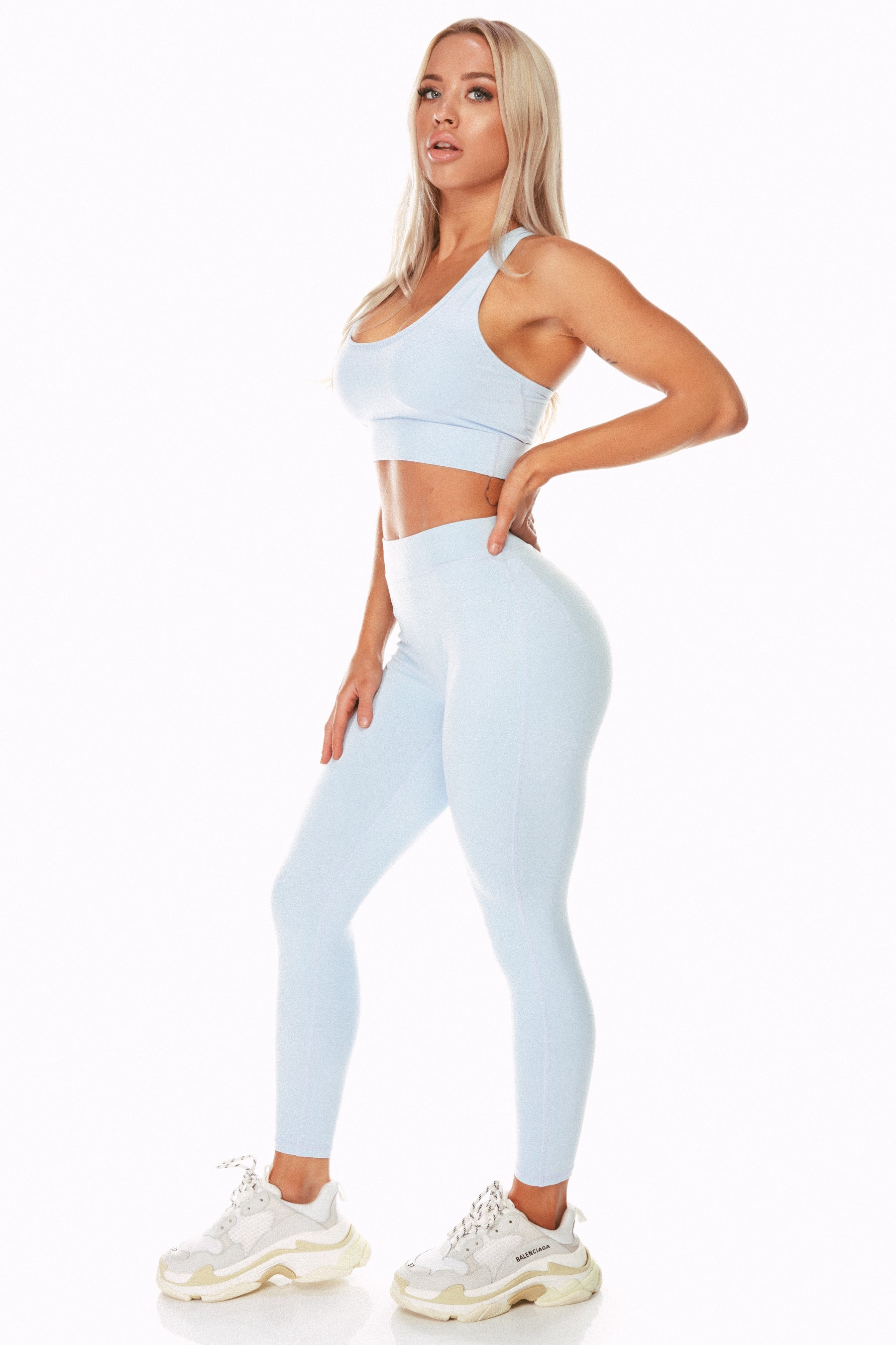 Staple Pale Blue High Waist Leggings