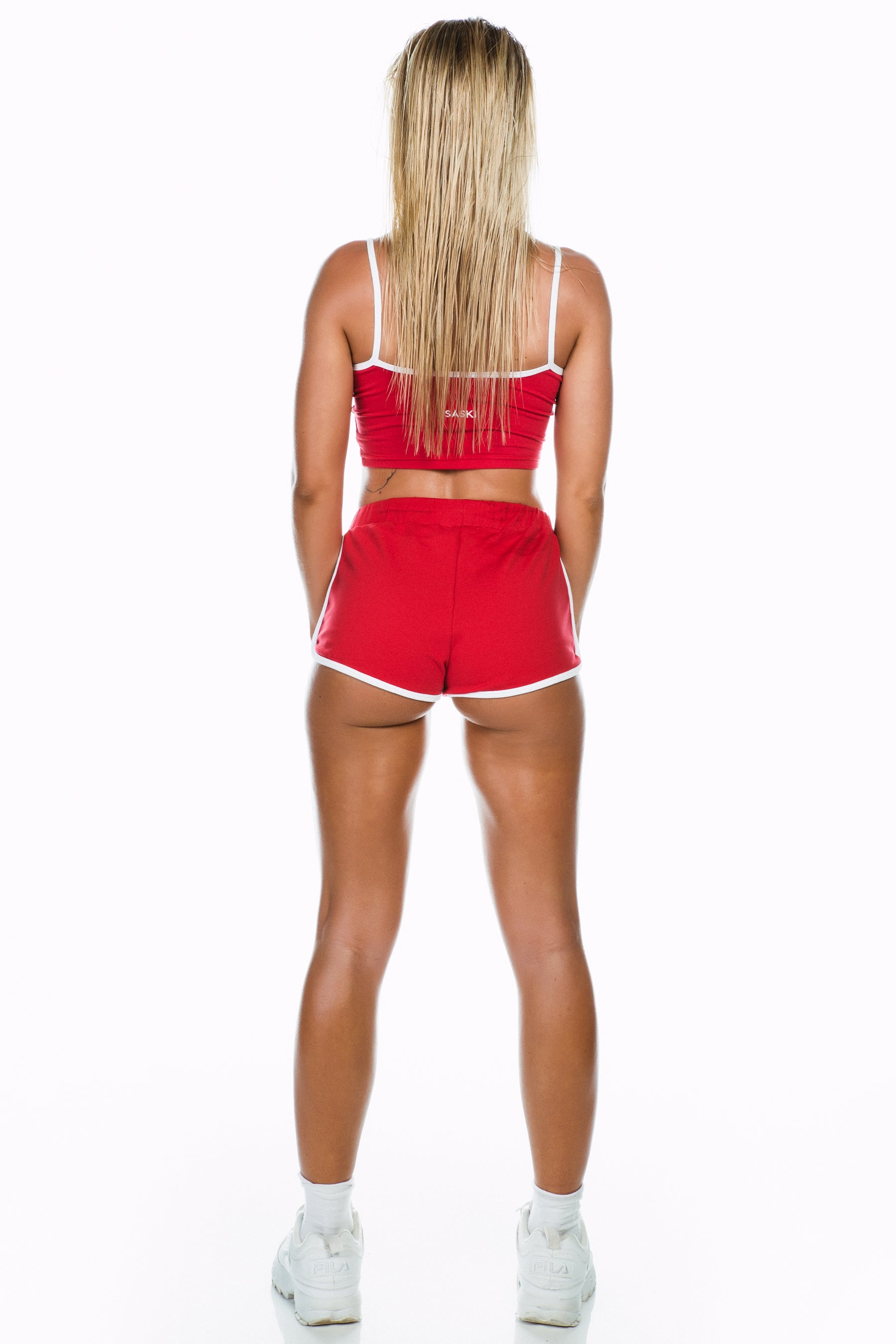 Red Cropped Singlet