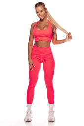 Neon Pink High Waist Leggings