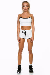 White/Black Cropped Singlet
