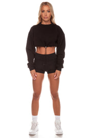 Black Toggle Jumper