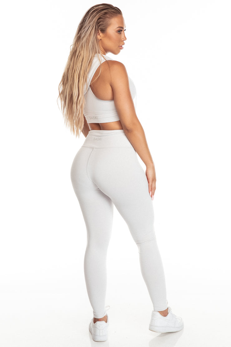 Silver High Waist Leggings