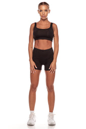 Black Square Neck Sports Bra