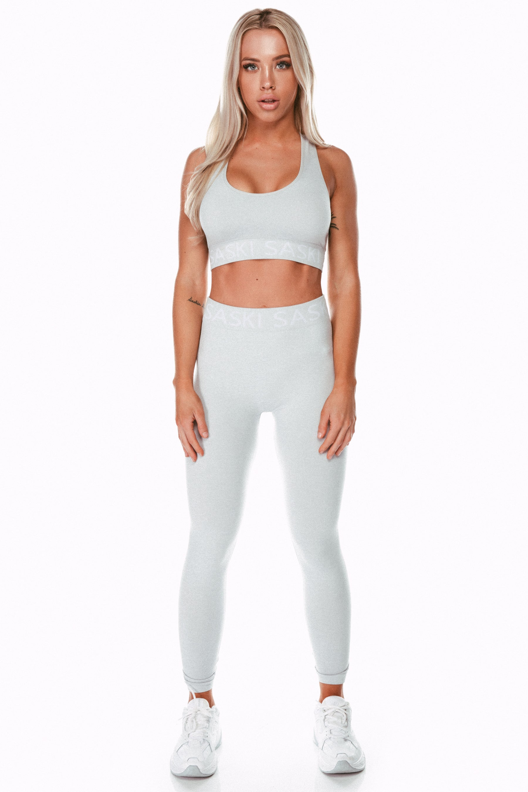 Seamless Heather Grey Sports Bra