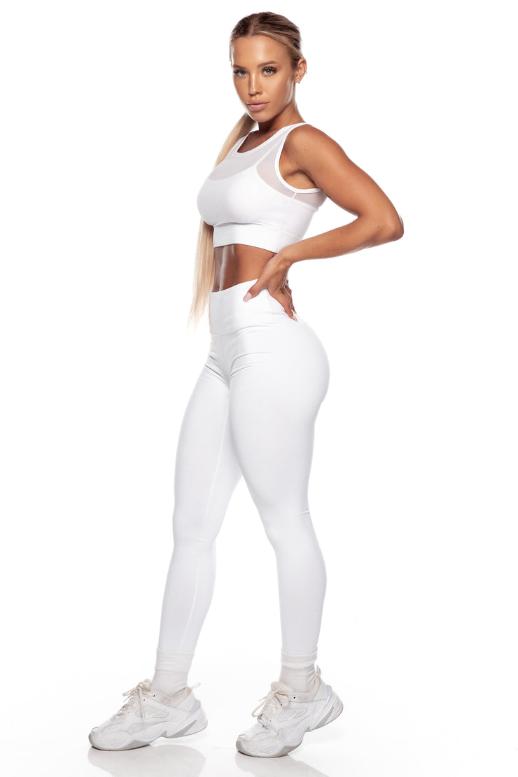 Sample - White Mesh Sports Bra