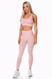Seamless Heather Pink Sports Bra