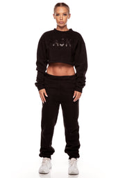 Black Fleece Jumper