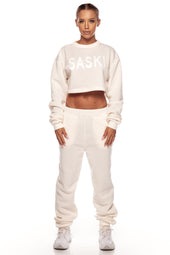 Cream Fleece Jumper